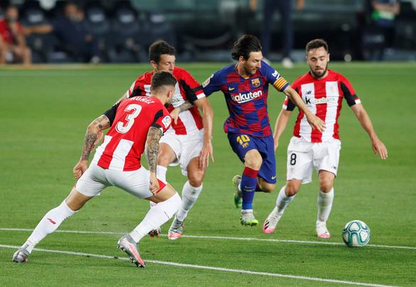 Messi 'tịt ngòi' trong ngày sinh nhật, Barcelona thắng chật vật Athletic Bilbao - Ảnh 1.