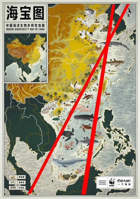 Cộng đồng họa sĩ bức xúc với bản đồ hải dương học Trung Quốc - Ảnh 1.