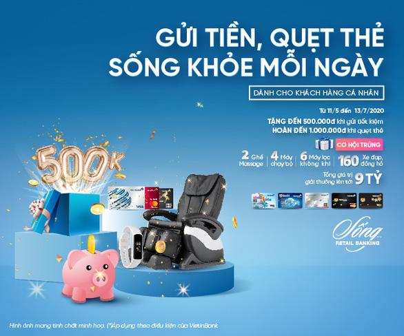 Gửi tiền, quẹt thẻ được VietinBank tặng quà và tiền - Ảnh 1.