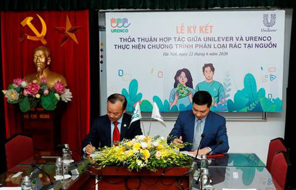 Unilever và URENCO hợp tác triển khai phân loại rác tại nguồn ở Hà Nội - Ảnh 1.
