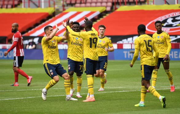 Thắng nghẹt thở Sheffield United ở phút bù giờ, Arsenal vào bán kết Cúp FA - Ảnh 1.