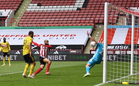Thắng nghẹt thở Sheffield United ở phút bù giờ, Arsenal vào bán kết Cúp FA - Ảnh 2.