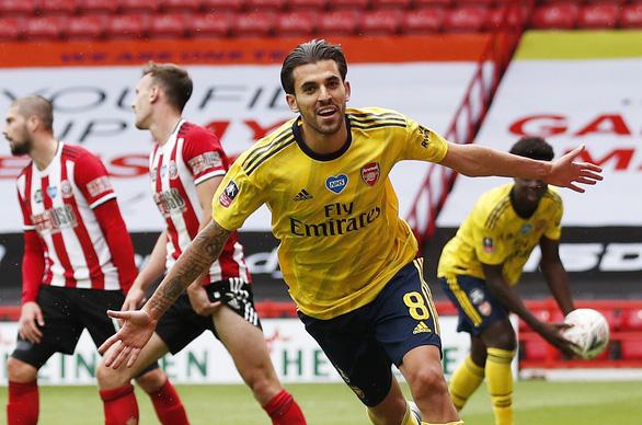 Thắng nghẹt thở Sheffield United ở phút bù giờ, Arsenal vào bán kết Cúp FA - Ảnh 3.