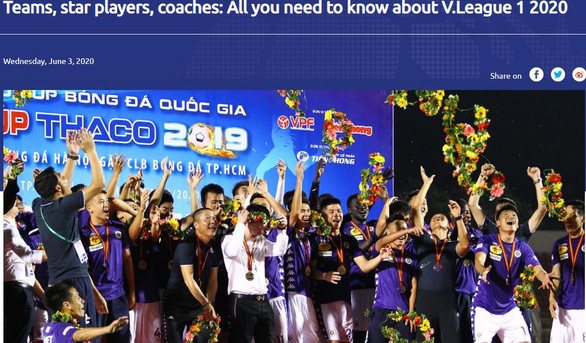 Trang chủ AFC ca ngợi và giới thiệu chi tiết về V.League 2020 - Ảnh 1.