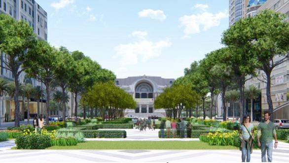 Chính thức khởi công khôi phục công viên trước Nhà hát TP.HCM - Ảnh 4.