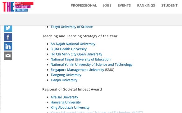 Đại học Mở TP.HCM vào vòng bình chọn Giải thưởng giáo dục châu Á 2020 - Ảnh 1.