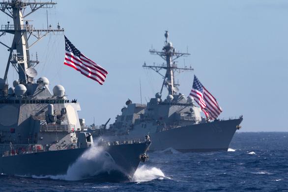 Đúng ngày tưởng niệm Thiên An Môn, Mỹ điều tàu chiến qua eo biển Đài Loan - Ảnh 1.