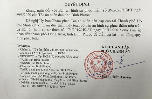 Bị cáo tự tử sau khi tòa tuyên án: Chánh án TAND cấp cao ở TP.HCM kháng nghị 6 điểm mờ - Ảnh 1.