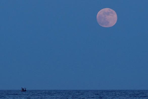 Ngắm trăng chuyển màu hồng trong đêm nguyệt thực - Ảnh 2.