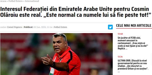 HLV Cosmin Olaroiu được mời dẫn dắt đội tuyển UAE chuẩn bị cho trận gặp Việt Nam - Ảnh 1.