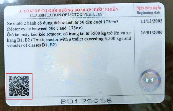 Bằng lái xe có mã QR để xác minh thật - giả trong tích tắc - Ảnh 2.