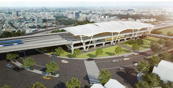 Cuối tháng sẽ lợp xong 10 mái nhà ga tuyến metro số 1 Bến Thành - Suối Tiên - Ảnh 2.