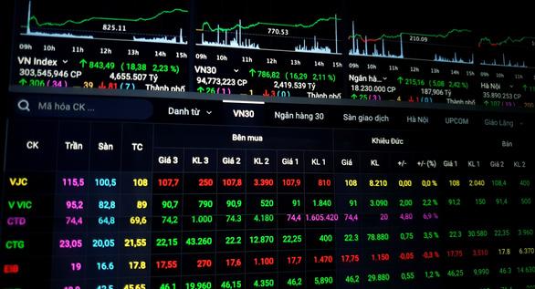 Chứng khoán xanh rực rỡ, doanh nghiệp nhận về hàng ngàn tỉ đồng vốn hóa - Ảnh 1.