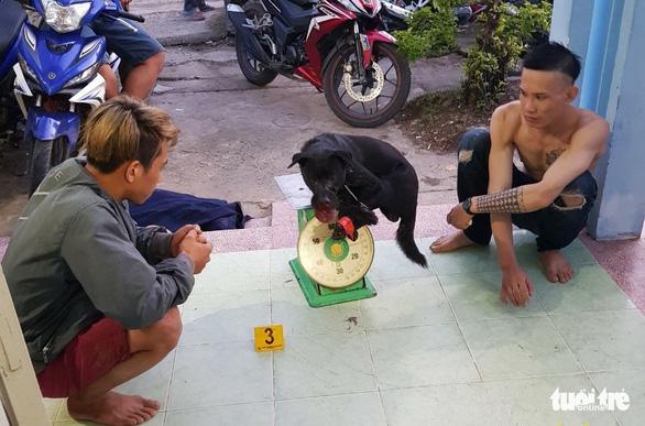Bị truy đuổi, hai thanh niên trộm chó dùng bình xịt hơi cay chống trả công an - Ảnh 1.