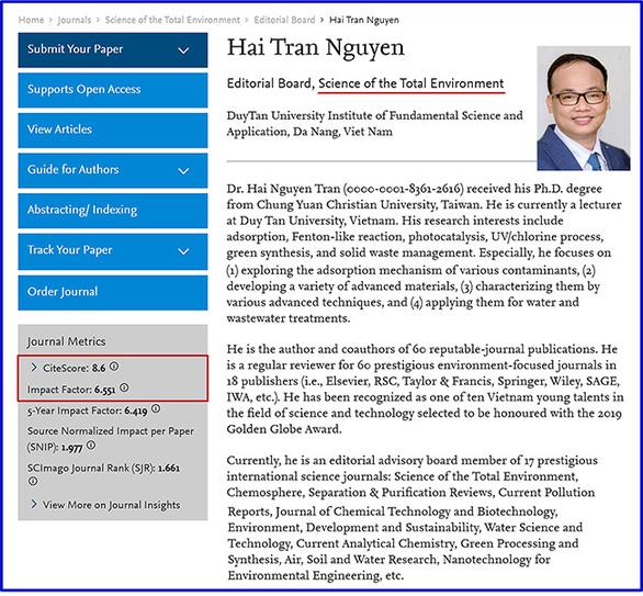 Nhà khoa học của Đại học Duy Tân nhận Giải thưởng Quả Cầu Vàng 2019 - Ảnh 3.