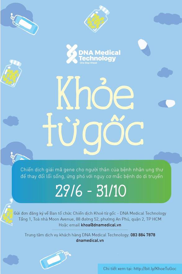 Chiến dịch giải mã gen miễn phí cho người thân của bệnh nhân ung thư - Ảnh 1.