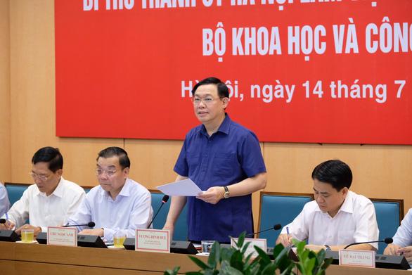 Chủ tịch Hà Nội Nguyễn Đức Chung: 'Làm rõ ứng dụng KH-CN trong phát triển - Ảnh 3.