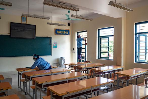 Hà Nội chuẩn bị thi tuyển sinh lớp 10: Giúp thí sinh chống nóng - Ảnh 1.