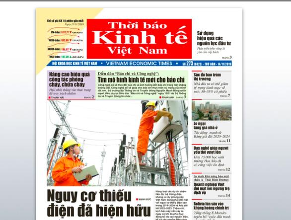 Thời báo Kinh tế Việt Nam đột ngột bị giải thể - Ảnh 1.