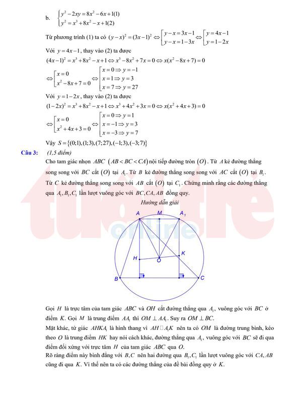 Đề và bài giải gợi ý môn toán lớp 10 chuyên ở TP.HCM - Ảnh 4.