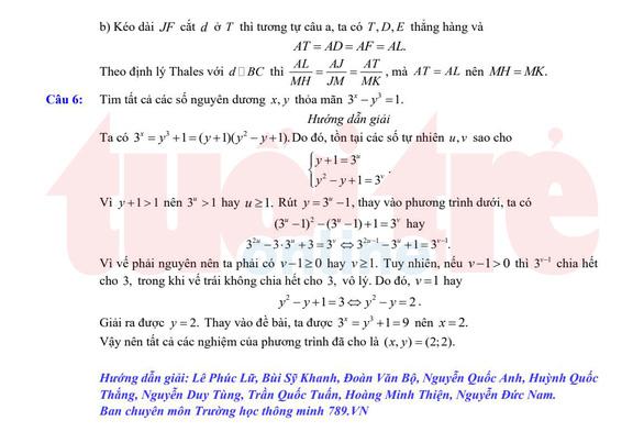 Đề và bài giải gợi ý môn toán lớp 10 chuyên ở TP.HCM - Ảnh 6.