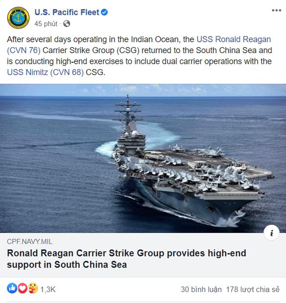 Mỹ điều tàu sân bay diễn tập chất lượng cao phòng bất ngờ ở Biển Đông từ 17-7 - Ảnh 2.
