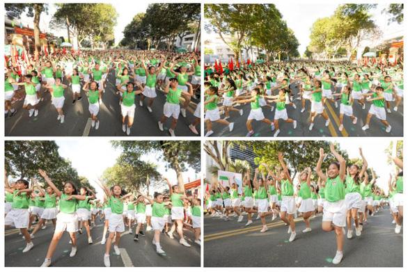 Hơn 2.100 học sinh tham gia Ngày chạy Olympic vì sức khỏe toàn dân với màn đồng diễn ấn tượng - Ảnh 3.