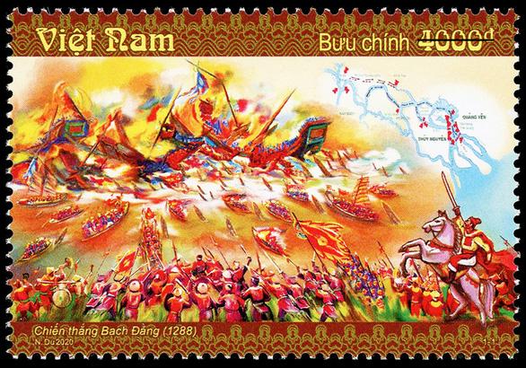 Phát hành bộ tem đặc biệt về chiến thắng Bạch Đằng năm 1288 - Ảnh 1.