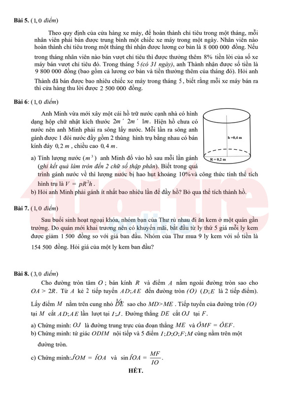 TP.HCM công bố đáp án bài thi tuyển sinh lớp 10 - Ảnh 8.
