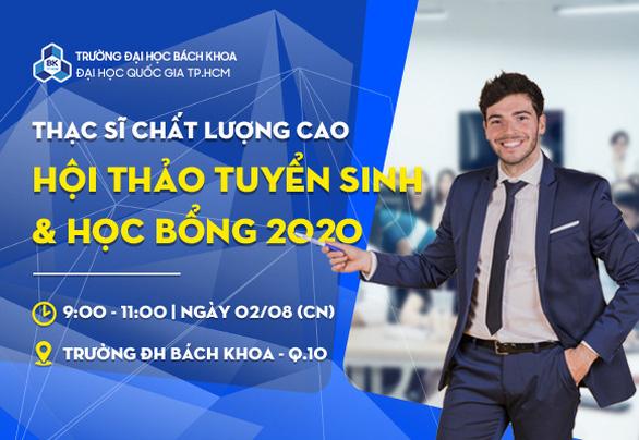 Trường ĐH Bách Khoa công bố học bổng thạc sĩ chất lượng cao 2020 - Ảnh 1.