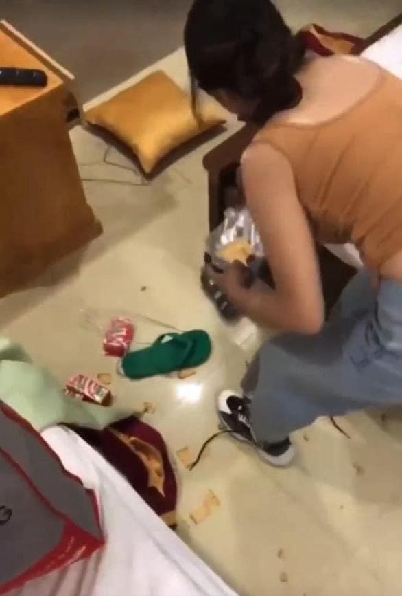 Cô gái cố tình xả rác khắp phòng khách sạn là sinh viên năm 1 nhưng đã nghỉ? - Ảnh 1.
