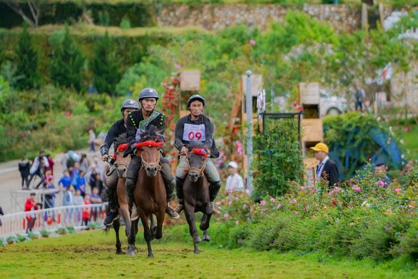 Du khách đổ lên Sa Pa hào hứng xem đua ngựa - Ảnh 4.