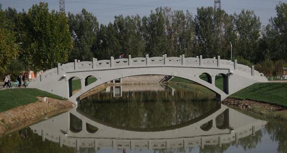 Cầu bê tông in 3D dài nhất thế giới - Ảnh 1.