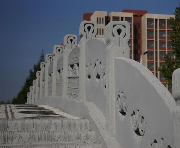 Cầu bê tông in 3D dài nhất thế giới - Ảnh 2.