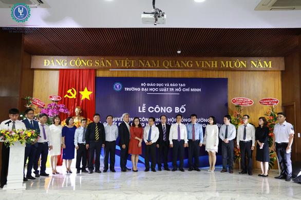 Ông Trần Trọng Tuấn xin thôi tham gia hội đồng Trường ĐH Luật TP.HCM - Ảnh 1.