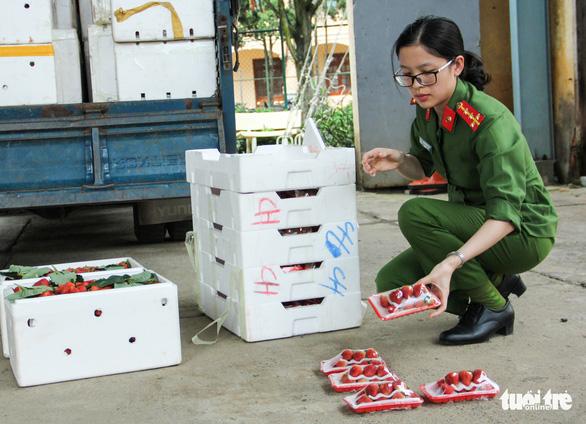 Phát hiện 8 tấn dâu tây nghi của Trung Quốc giả mạo dâu tây Đà Lạt - Ảnh 1.