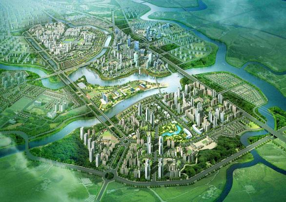 Nam Sài Gòn sắp có đô thị 349ha - Ảnh 1.
