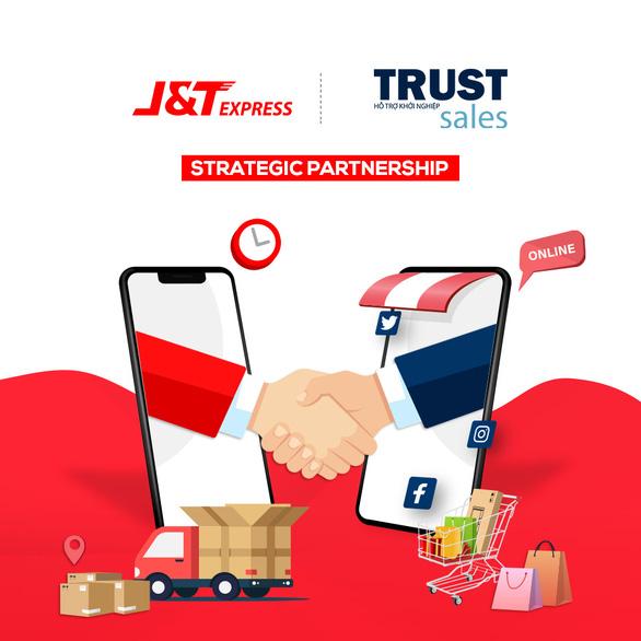 Chuyển phát nhanh J&T Express bắt tay cùng TrustSales - Ảnh 1.