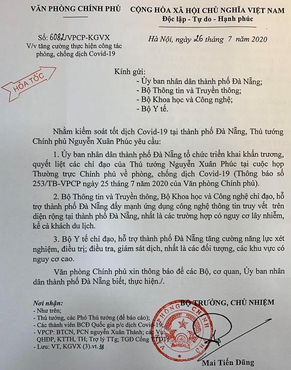 Thủ tướng yêu cầu truy vết trên diện rộng tại Đà Nẵng, kể cả du khách - Ảnh 1.