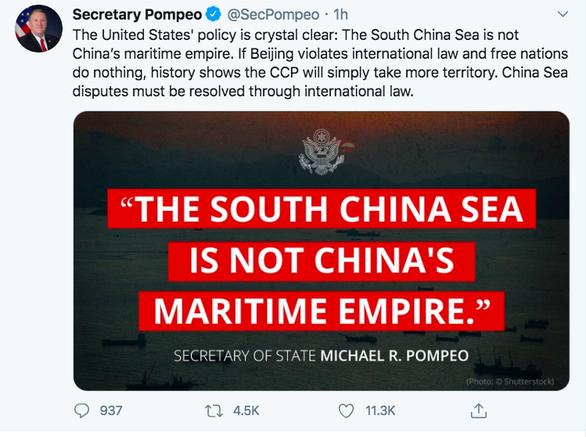 Ngoại trưởng Mỹ: Lịch sử cho thấy nếu không làm gì, Trung Quốc sẽ chiếm thêm lãnh thổ - Ảnh 1.