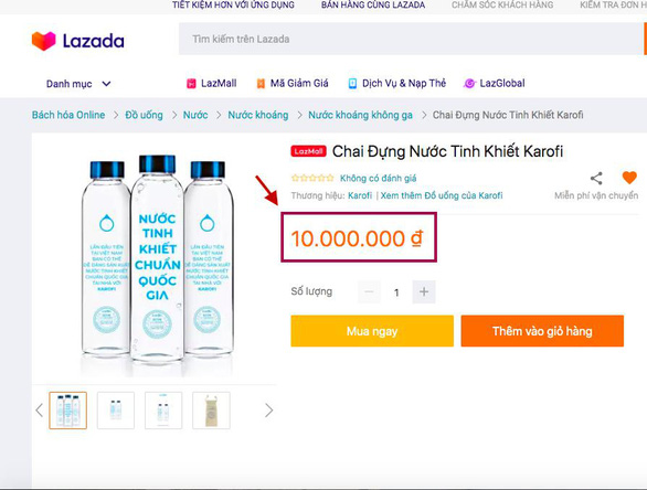 Chai nước giá 10 triệu và chiến lược truyền thông gây chú ý - Ảnh 2.