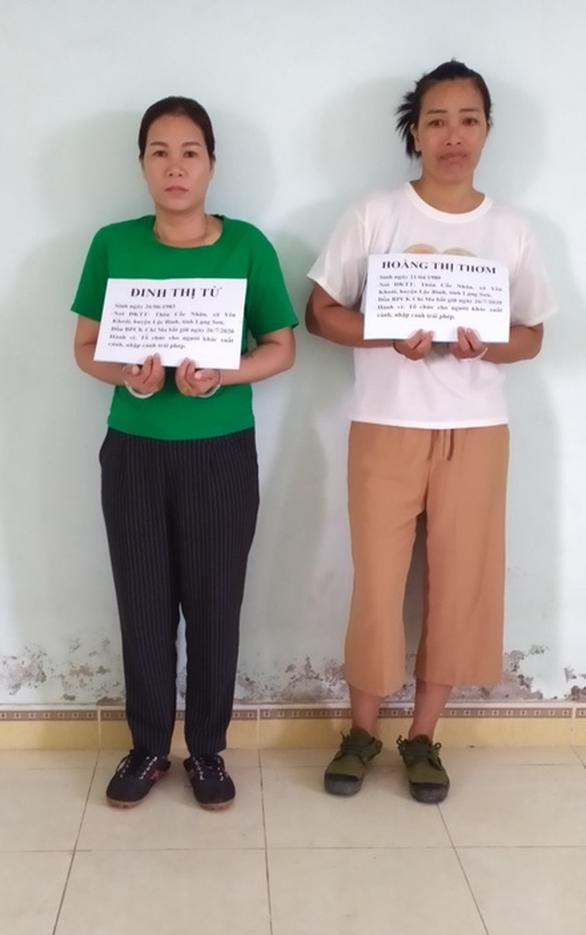 2 phụ nữ Việt đưa 9 người Trung Quốc nhập cảnh trái phép - Ảnh 1.