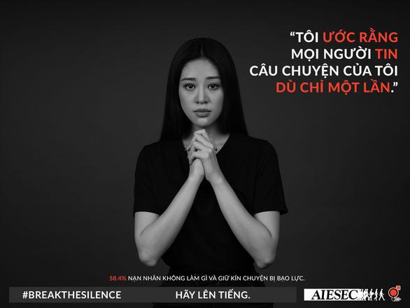 Hoa hậu Khánh Vân phản đối quấy rối tình dục qua Break the silence - Ảnh 2.