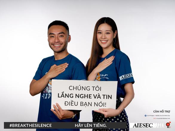 Hoa hậu Khánh Vân phản đối quấy rối tình dục qua Break the silence - Ảnh 4.