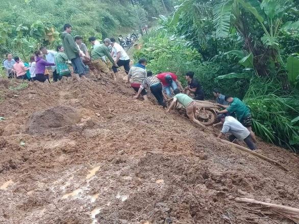 Mưa lớn tại Lai Châu, Lào Cai, một người bị lũ cuốn trôi - Ảnh 1.