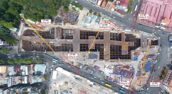 Xây dựng 6 đường hầm lên xuống nhà ga metro Bến Thành - Ảnh 2.