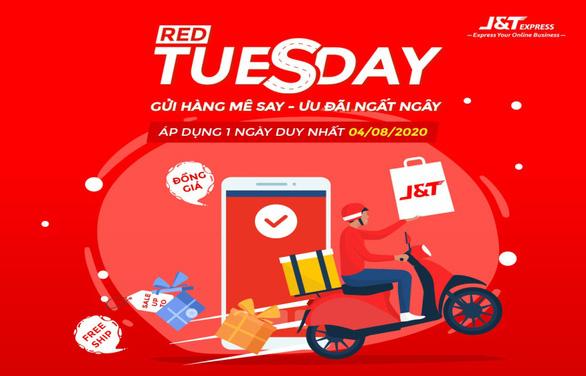 Chuyển phát nhanh J&T Express tung siêu khuyến mãi ngày Red Tuesday 4-8 - Ảnh 1.