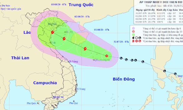 Vùng áp thấp trên biển Đông đã mạnh lên thành áp thấp nhiệt đới - Ảnh 1.