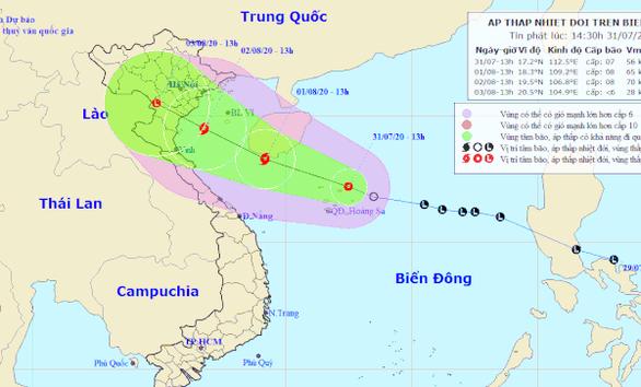 Áp thấp nhiệt đới khả năng thành bão trong 24 giờ tới, Bắc và Trung Bộ có mưa lớn - Ảnh 1.
