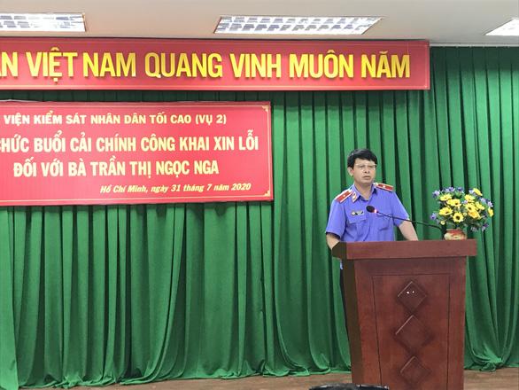 Viện KSND tối cao xin lỗi vì gây oan sai cho luật gia Trần Thị Ngọc Nga - Ảnh 2.